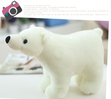 2016 new 1Pc 20CM*13cm Cute Small Soft Stuffed White Polar Bear Plush Doll Toy Christmas Gift kids baby girl toys
