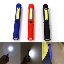 Portable Mini LED Magnet COB Inspection work Light Lamp Multifunction COB LED Mini Pen cob work flashlight Cob Red(China)