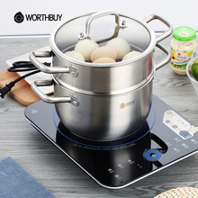 WORTHBUY Multifunctional Stainless Steel Soup Pot Cookware Kitchen Cooking Stock Pot Induction Cooker Heating Cooking Saucepans(China)