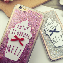 Luxury Mobile Phone Cases For iPhone 6 6S 6Plus 6SPlus 7 7Plus Chocolate Ice Cream Lovely Cartoon 3D Soft TPU Phone Cover Case