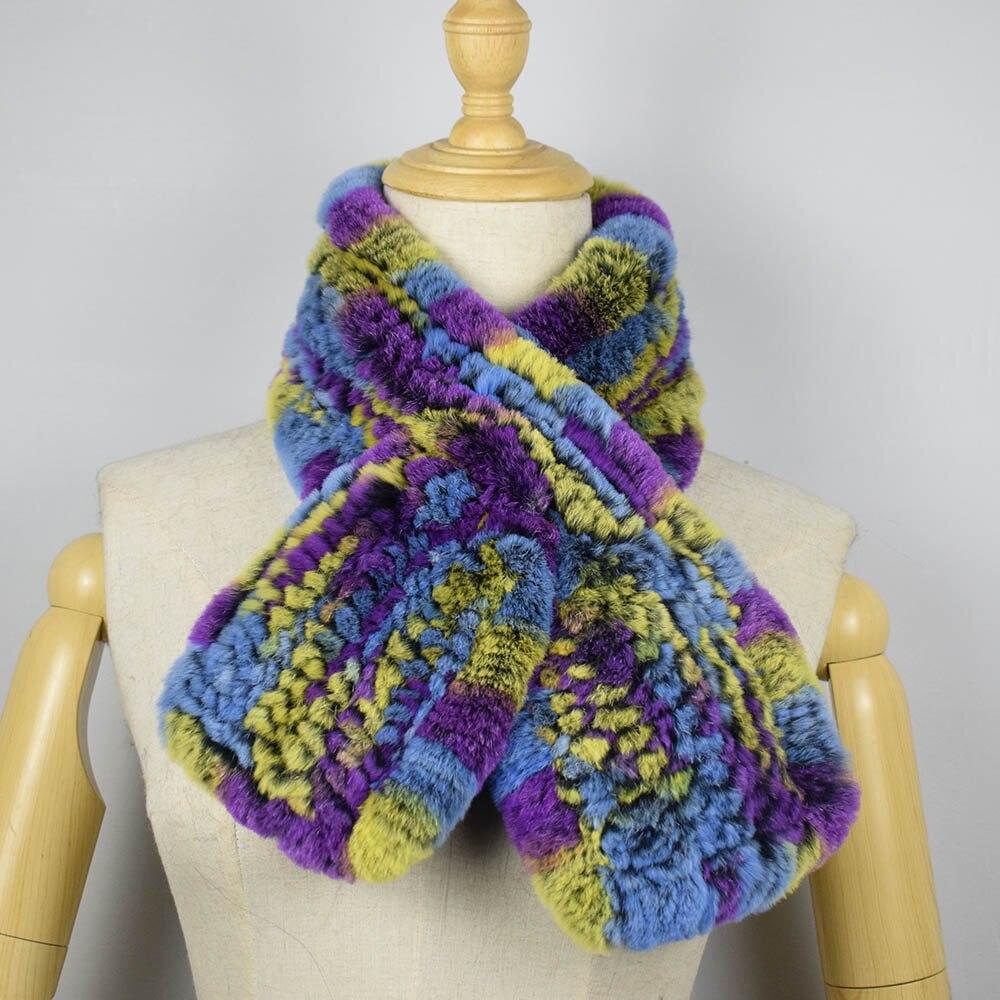 rex rabbit fur scarf short 6