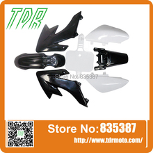 WHITE AND BLACK Plastics Fairing Fender Kit CRF50 110cc 125cc 140cc PIT PRO Trail Dirt Bike(China)