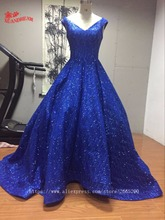Real made bling bling evening gown for party robe de soiree vestido de festa hot sale puffy evening dresses 2017 made in china(China)