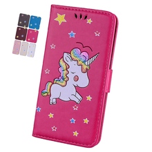 Misolocat For Apple iPod Touch 5 Case Unicorn Flip Cover Wallet Leather Cases for iPod Touch 6 Stand Covers Luxury Capa Funda(China)