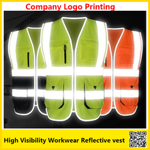 SFvest High visibility reflective safety vest  work unifroms workwear safety vest with company logo printing free shipping