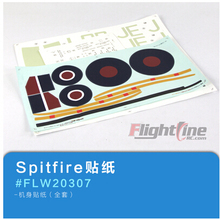 decal set for Freewing Flight Line Spitfire rc airplane model