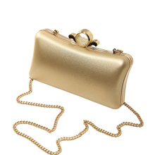 Luxury Gold Silver Evening Purse Women Pink PU Leather Pearl Hand Bag Chain Shoulder Clutch Bags Handbag bolso handtassen XA841H