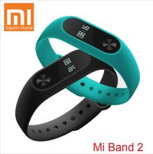 Free shipping Original Xiaomi M2 Band 2 Wristband Bracelet Smart Heart Rate Monitor Bluetooth Phone Pedometer IP67 OLED Screen