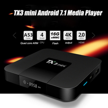 OTHA TX3 Mini Android 7.1 Media Player H.265 4K HDMI Smart TV Box Amlogic S905W 2.4GHz WiFi Set-top Boxes TF Card Reader 16GB(China)