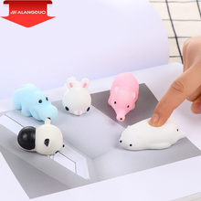 ALANGDUO Squishy cat/Seal Lion/pig/sheep/duck/chick Cute Phone Straps Slow Rising Soft Press Squeeze Kawaii Bread Cake Kids Toy