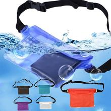 Durable Waterproof Pouch Phone Bag Money Case With Waist Strap For Beach Swimming Boating Drifting Diving Rowing Boat piscina