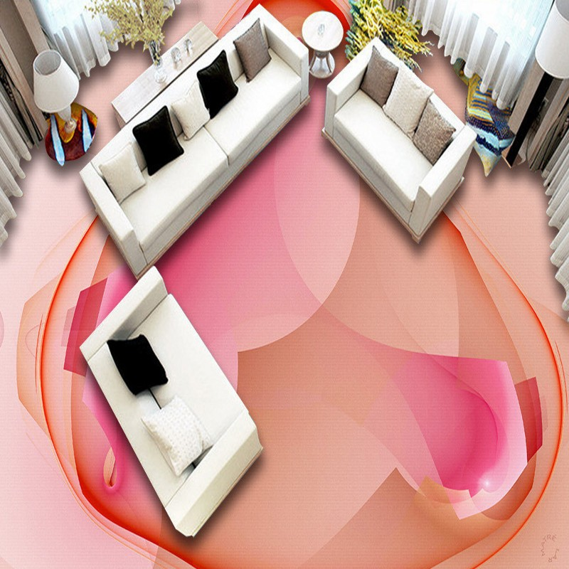 Free Shipping photo high quality European floral 3D floor painting wallpaper bathroom hotel self-adhesive floor mural<br>