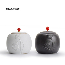 200ML Hot Sale WIZAMONY Crude Pottery Tea Caddy Canister Stainer High Quality Tea Set Chinese Style Multiple Types