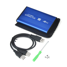 High Speed 2.5inch USB 2.0 HDD Case Hard Drive SATA External Enclosure Box for PC Computer Laptop Notebook QJY99