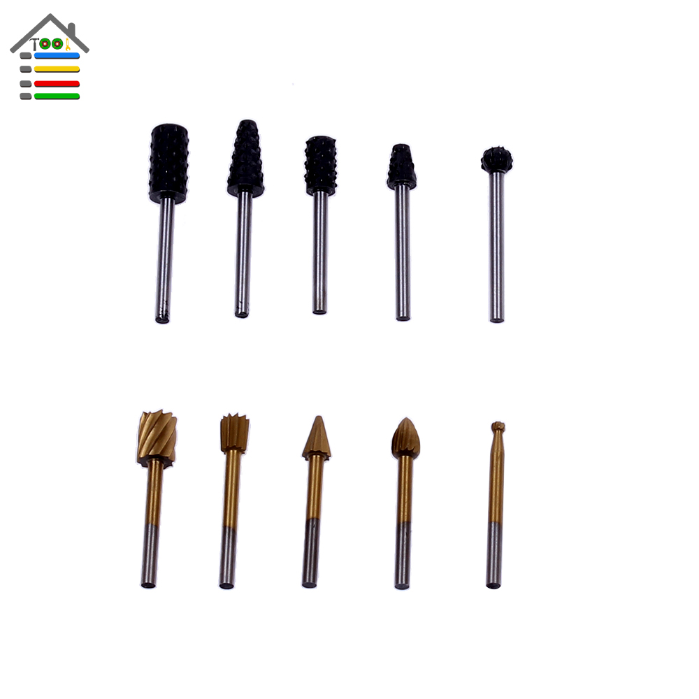 10pc/Lot 3mm Shank HSS Woodworking File Wood Router Bit Engraving Machine Pattern Trimming Milling Cutter Fit Dremel Rotary Tool<br><br>Aliexpress