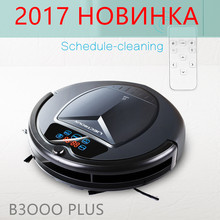 2017 LIECTROUX B3000 PLUS Robot Vacuum Cleaner with Wet dry,Water Tank,VirtualBlocker,Self-Charge,TouchScreen,UV,Schedule,Remote