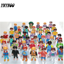 (YNYNOO)10Pcs Playmobil Germany Original Action Figures Western Farm Fun Park 2016 Playmob Game Child Toy Models Collections Kid