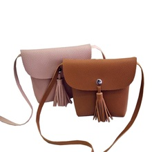 Manufacturers Selling 2016 New Small Women Bag Tassel Shoulder Bag Satchel Mini Mobile Phone Bag Women Messenger Bags(China)