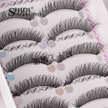 5 Pairs Doll Black Lashes Perfect Crisscross Artificial Hair Extension Fake Eye Lashes Crisscross Cilios Cils Maquiagem Faux(China)