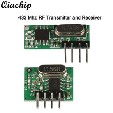 QIACHIP Wireless 433MHz Transmitter Module and 433 MHz RF Relay Receiver For Garage Door Opener Light Remote Control Switch DIY(China)