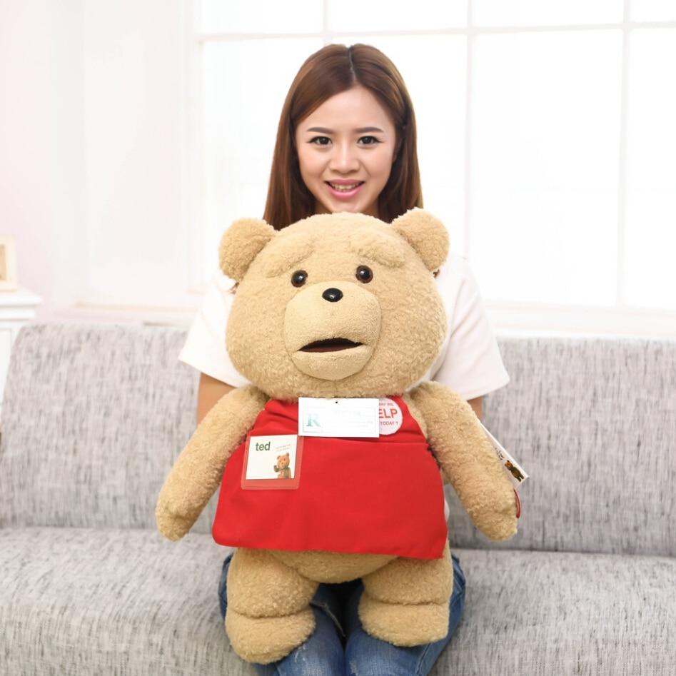 60cm Big Size Movie Teddy Bear Plush Toys In Apron Soft Stuffed Animals Dolls Girlfriends gifts Kids Toys<br>