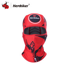 HEROBIKER Red Motorcycle Cycling Protect Full Face Mask Summer Outdoor Sports Breathable Face Mask(China)