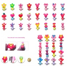 12-16pcs Flowers Mickey Head Bows Starfish Cherry PVC Hairpins Girls Barrette Cloth Wrapped Hair Clips Hair Accessories(China)