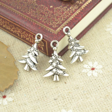 30pcs alloy Tibetan Silver Plated Christmas tree Charms Pendants for Jewelry Making DIY Handmade Craft 21*14mm 21109