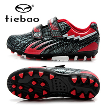 TIEBAO Children Soccer Shoes Turf Athletic Football Shoes Kids Athletic Outdoor Sport Shoes Anti-Slip Soccer Shoes EU 28-38