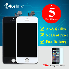 Bluehfixr AAA Quality LCD For iPhone 5 Screen Black/White For iPhone 5 LCD Display Touch Screen Digitizer Assembly Free Shipping(China)