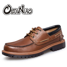Nautical Mens Shoes Casual Fashion British Men Large Size Cow Leather Men Boat Shoes Casual Classic Shoes Male