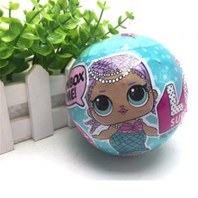 18 Style Random Dress Change LOL 9.5cm Eggs Surprise Doll Toy Cute Dolls Action Figure With Feeding bottle Random Doll And Color(China)