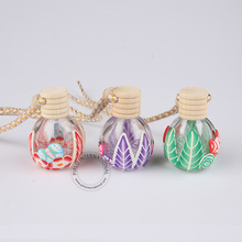 New Arrival 15ml Clear Glass Perfume Bottle With Rope 1/2oz Flower And Butterfly Design Perfume Bottles Multi-color Randomly