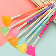 1pcs Handle Colorful Dusting Brushs Keyboard Paintbrush Cleaner USB Mini Dust Machine For Computer Laptop PC(China)