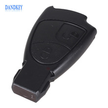 Dandkey Car Key Case For Mercedes Benz B C E S ML SLK CLK Class 2 Buttons Key Shell Fob Cover with logo Free Shipping