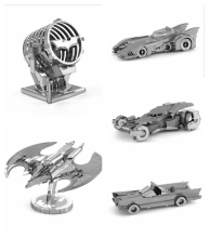 Hot Toys BATMAN 3D Metal Puzzle Model Nano Jigsaw Puzzles BATMAN1989 BATMOBILE Metallic Puzzles Educational Kids Toys