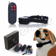 No Harm 4 in 1 250m Pet Control Stop Bark Electric Remote Shock Vibration Small Medium Large Anti Bark dog Training Collar(China)