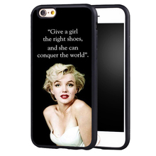 Sexy Marilyn Monroe Quotes Case Cover for Samsung Galaxy s4 s5 s6 S7 edge S8 plus note 3 4 5