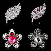 3 Colors Brooches 2017 Hot New Large Fashion Drop Pendant Wedding Lady Rhinestone Brooch Gift Silver Drop Shipping JC29(China)