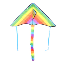 Outdoor Rainbow Kite Long Tail Nylon Toys for Kids Children's Kite Stunt Kite Surf without Control Bar and Line Kites