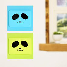 1PC Cute Silicone Panda Pattern Switch Case Cover Safe Dust Cover Electric Shock Proof Wall stickers Socket Cover Protector Home