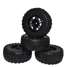 RC 1:10 Short Course Truck Tires Set Tyre Wheel Rim for Traxxas Slash HPI Pro-Line Racing(China)