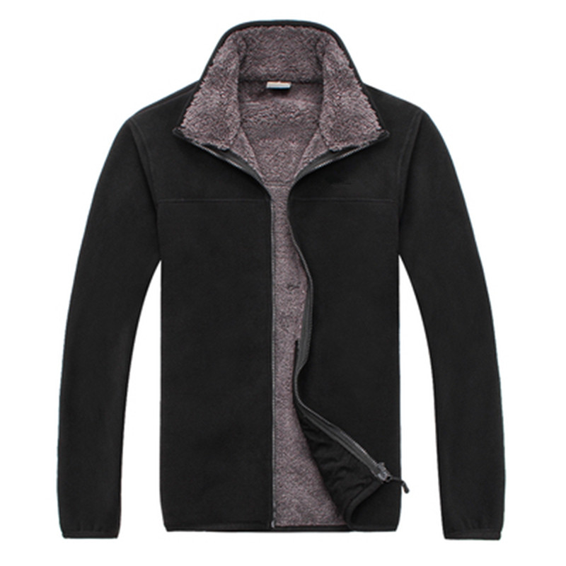 Mens Outdoor Thick Fleece Jacket Men Autumn/Spring Softshell Thermal Coats Cashmere Cardigan Hiking Jacket M-3XL 5 Colors<br>