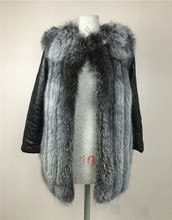 Buy LIYAFUR 2017 Detachable Leather Sleeve Real Genuine Thick Natural Silver Fox Fur Winter Vest Gilet Coat Jacket Women Fashion for $252.74 in AliExpress store