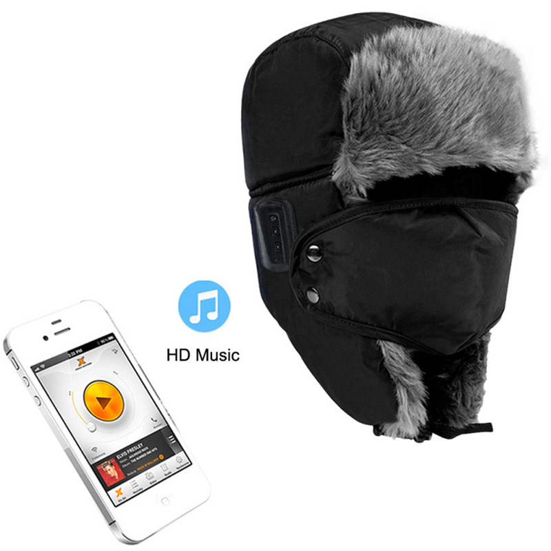 Bluetooth Earphone Winter Warm Unisex Music Hat Wireless Headphone With Mic Hands free Calls Answer for SmartPhone(China (Mainland))