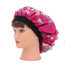 1PC New Women Beauty Salon Cap Night Sleep Cap Head Cover Satin Bonnet Hat For Curly Springy Hair Chemo Cap(China)