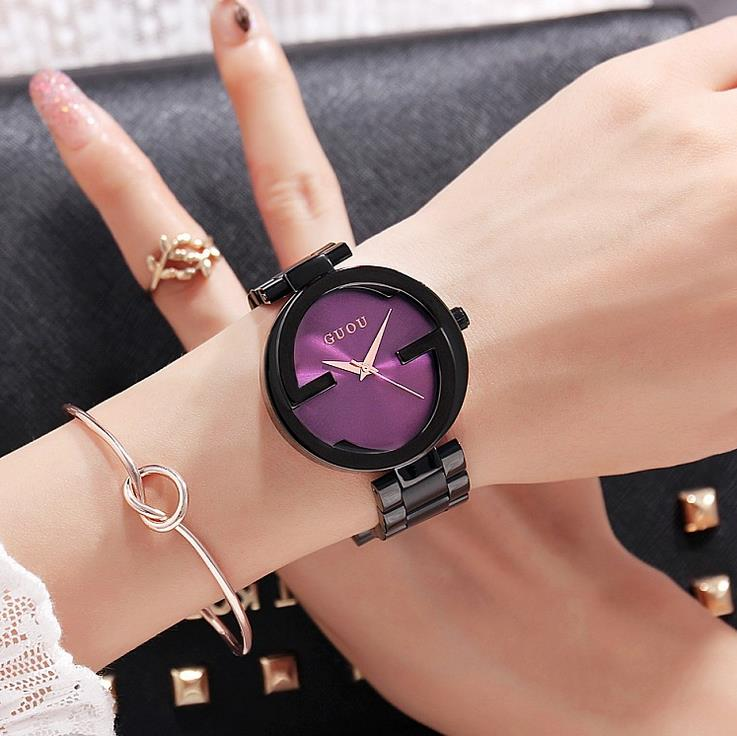 2017 New Brand Quartz Stainless Steel Back Bracelet Watch Women Ladies Dress Clock Elegant Luxury wristWatches reloj mujer<br>