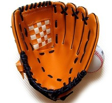 Top quality 12.5 inch thicken Artificial leather Pitcher gloves Baseball glove for Children  Free shipping