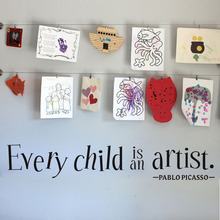 DCTOP Every Child is an Artist Decal Vinyl Wall Sticker Bedroom Baby Kids Playroom Home Decor Removable Wallpaper
