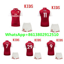 2017 Arsenales best Quality Arsenales kids kit 17 18 Home red Away yellow 3RD blue Soccer Jersey Boys kit shipping(China)